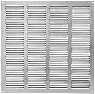 Rejilla de ventilación (galvanizada, 400 x 400 mm, con protección contra insectos, rejilla de metal