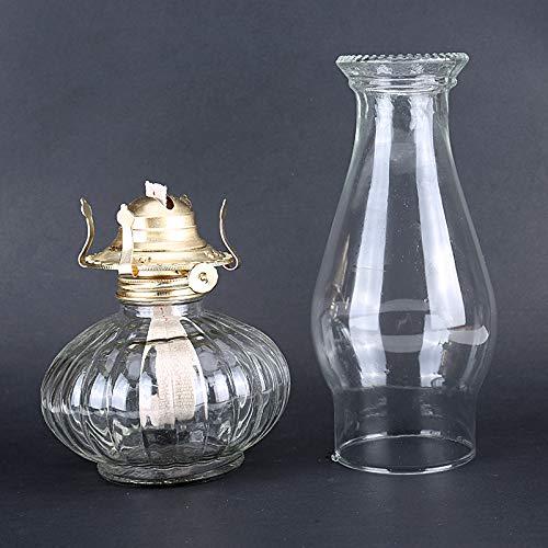 Rudxa Lampe a Petrole pour Usage Intérieur, Lampe a Huile en Verre Vintage, 33 cm/ 13'