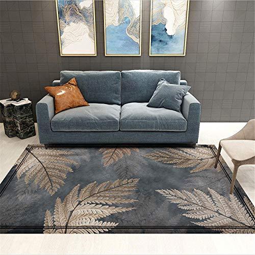 mesas comedor grandes alfombras salon El patrón de hojas de la alfombra de la sala de estar y el dormitorio se puede lavar a máquina y no se decolora decoracion balcon exterior 40X60CM 1ft 3.7'X1ft 11