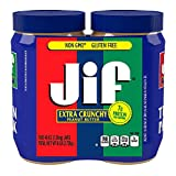 2 Pack Combo JIF Extra Crunchy Peanut Butter 48 Oz Each Jar Cos11