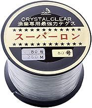 [ テグス・釣り糸 ]ボビン巻ナイロンテグス80号/250m/透明