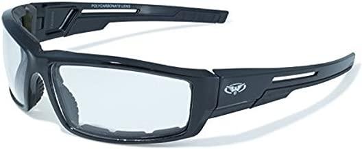 Clear Lens Motorcycle Padded Glasses Sunglasses ATV Quad Moped, black