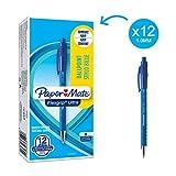 Paper Mate Flexgrip Ultra Penna a Sfera a Scatto, Punta Media (1 mm), Blu, Confezione da 1...