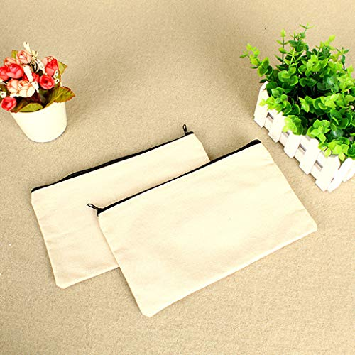 Pencil Bag,Pencil Pouch,Buy One Get One Or Two Pieces,blank Canvas Pen Case For Painting,30x40cm Large Capacity,simple And Stylish White