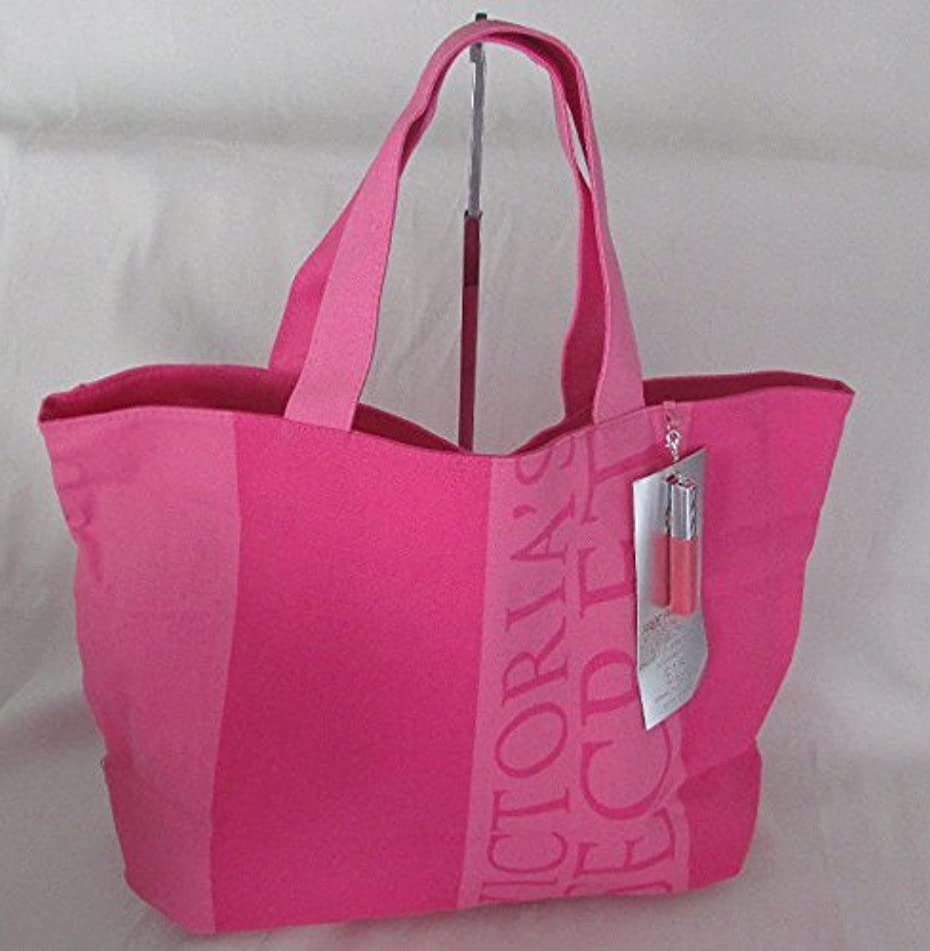 Victoria′s Secret Weekender Canvas Tote with Lip Gloss