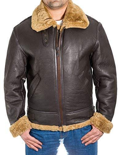 A to Z Leather Hombre Brown Aviador B3 Piel Oveja