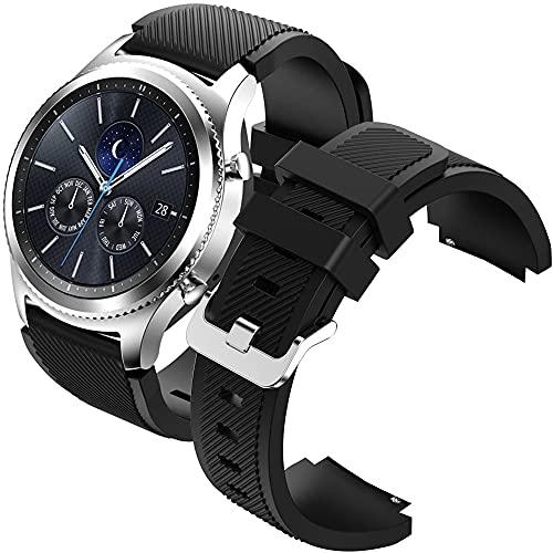Correa 22mm, Correa Compatible con Samsung Gear S3, Correa Compatible con Galaxy Watch 46mm, Correa Compatible con Huawei Watch GT/GTR 2, Correa de Reloj de Silicona de 22 mm