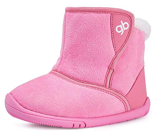 BMCiTYBM Baby Snow Boots Boys Girls Winter Fur Lined Shoes 6 9 12 18 24 Months Pink Size 6 (Infant/Toddler/Little Kid)