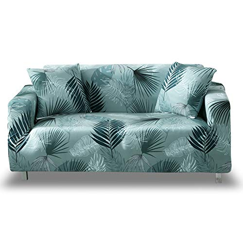HOTNIU Elastischer Sofa-überwurf, Antirutsch Stretch Sofabezug, Sofahusse, Sofaüberzug, Sofa Abdeckung, Hussen für Sofa Couch Sessel in Verschiedene Größe und Farbe(2 Sitzer, Gemustert #BX)