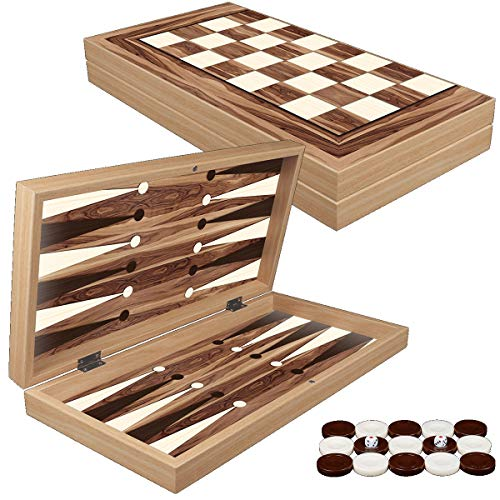 Master Games T76-Backgammon-Tavla -Big Size 48cm x 24cm x 6,00 cm, aus Holz (MDF Platten)