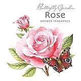 Rosa blanca Estratosférica 'mariposario' bolsita perfumada - Color de rosa