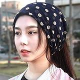 WUTOLUOHANS Beanie Cap for Frauen, Retro Print Hochelastische atmungsaktive Turban Cap -