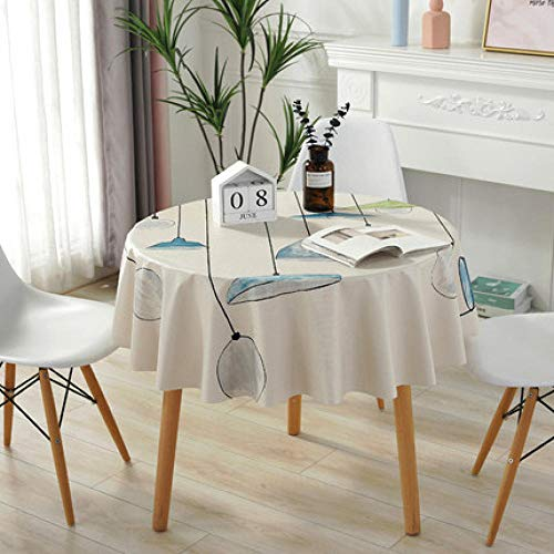 Traann Plastic tafelkleed schoonmaakdoekje, rond, waterdicht tafelkleed, stof voor thuis, decoratie voor feest, bruiloft, eenvoudige kroonluchter 120