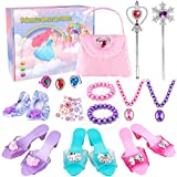 Meland Princess Dress Up Shoes - Princess Toys With My First Purse Jewelry Set & Accessories - Princess Gift for Little Girls 3, 4, 5, 6 Years Old for Christmas Birthday
