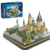 SESAY Juego de construcción de 7580 piezas, castillo modular Hogwarts con diseño de arquitectura, compatible con el candado de Hogwarts de Lego Harry Potter 71043