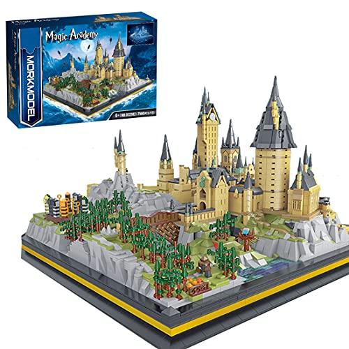 Sunbary Hogwards Schloss Bausteine, 12918 Teile Magisches Schloss Modell Bausatz, Klemmbausteine Kompatibel mit Lego Harry Potter Schloss Hogwarts 71043