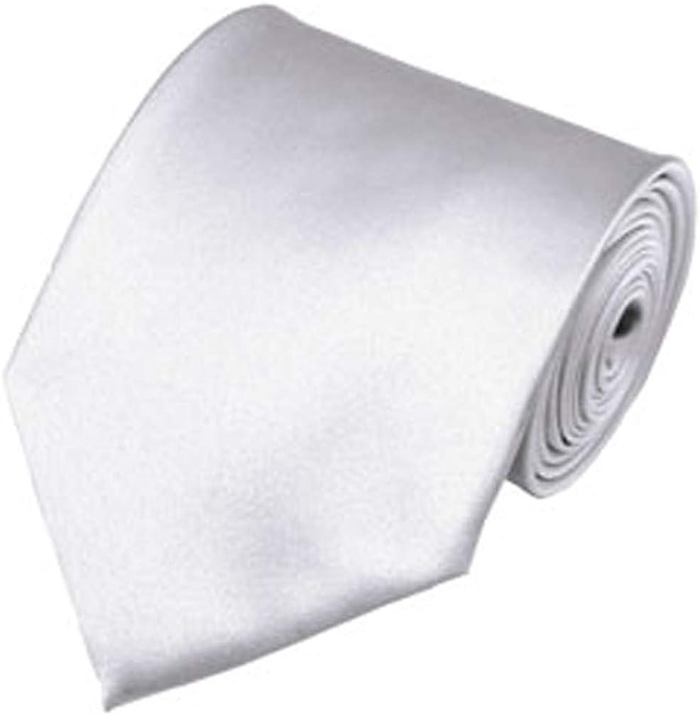 Outlet SALE Save money Solid White Necktie Satin