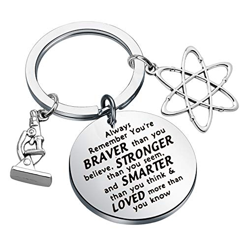 Science Gift Keychain Science Graduation Gifts Biology Chemistry Science Student Gifts Atom Microscope Charms Chemistry Science Gifts (keychain)
