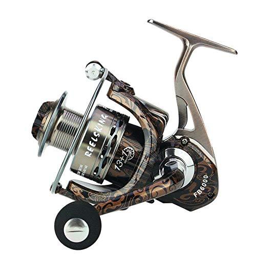 HXF- Pesca Pesca línea Pintada de Bronce Rueda de Metal de Aluminio...