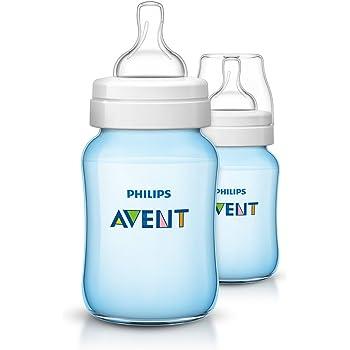 Philips Avent 4x 260ml Baby botella azul scf565//27 clásica plus botella aspirador 2