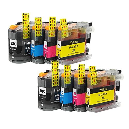 RICR Reemplazo de Cartucho de Tinta Compatible para Brother LC225 LC225XL LC227XL Trabajo DCP-J4120DW MFC-J4420DW MFC-J4620DW MFC-J4620DW MFC-J4625DW Impresora (Paquete d 2 Set