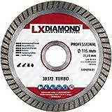 LXDIAMOND Disco de corte de diamante 115 mm x 22,23 mm para baldosas de gres porcelánico, baldosas de cerámica naturales para amoladora angular 115 mm