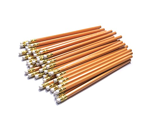 Dahomez 50pcs 2hb Lápiz con goma de borrar Woodcase superior fácil pluma de plomo de afilado