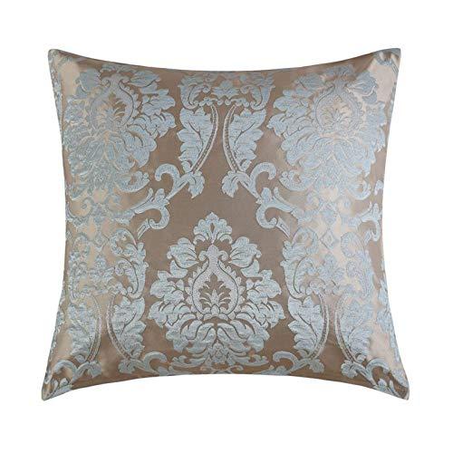 JONJUMP Funda de almohada jacquard para sofá, decoración del hogar, color caqui 45 cm x 45 cm