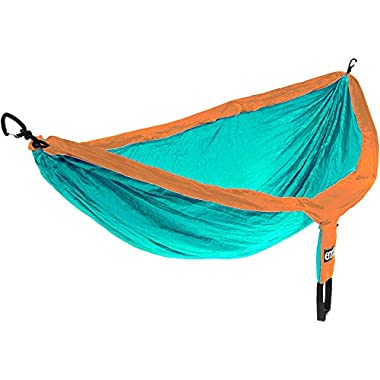 Eagles Nest Outfitters ENO DoubleNest Hammock, Portable Hammock for Two, Copper/Aqua