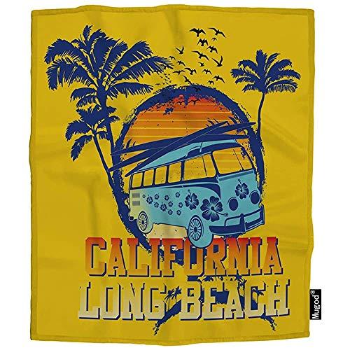QDAS Long Throw Ocean Palm Car Surf Paddel Gemütliche warme Decken für Kleinkindhunde