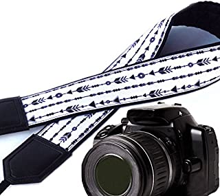 Arrows Camera Strap. DSLR/SLR Camera Strap. Photo Camera Accessories. Padded Camera Strap. Black and White Camera Strap by...