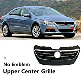 EZSHOP48 Compatible with VW CC 2009-2012 Front Bumper Center Upper Radiator Grille Chrome Grill