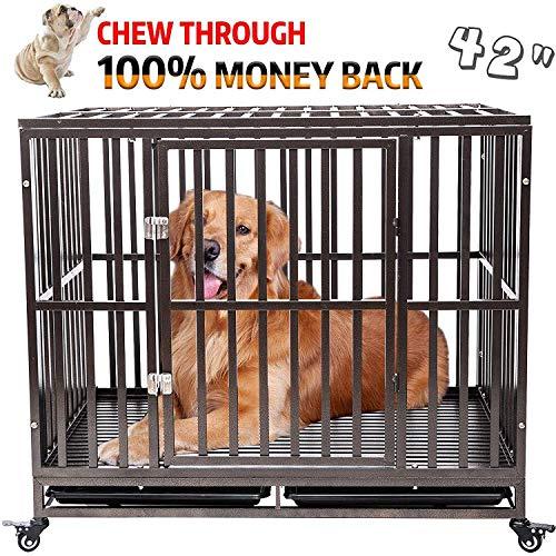 Gelinzon Heavy Duty Dog Cage Crate