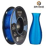 Filament TPU 1.75mm, Eryone TPU Filament 1.75mm, 3D Drucken Filament TPU for 3D Drucker, 0.5kg 1 Spool, Transparent Blue