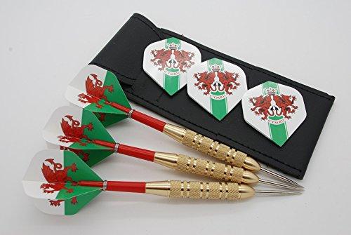 23g Wales Darts Set, Welsh Dart Flights, Stängel, lockringe & Fall