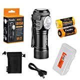 Fenix LD15R 500 Lumen Right-Angle White & Red LED Rechargeable Mini Flashlight with 2X Rechargeable Batteries & LumenTac Battery Organizer