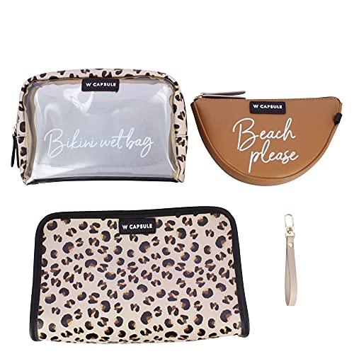 W Capsule Westies ACOBERTHCW TAN/MULTI Bolsa SET Cosmetiquera + handheld + monedero para Dama, Mediano