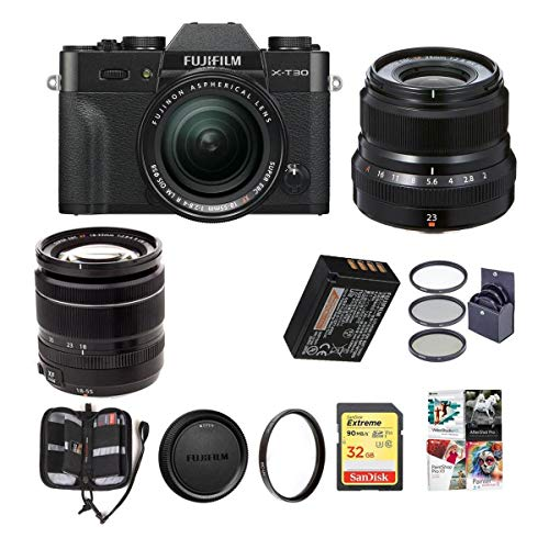 Great Price! Fujifilm X-T30 Mirrorless Camera with XF 18-55mm f/2.8-4 R LM OIS and XF 23mm (35mm) F/...