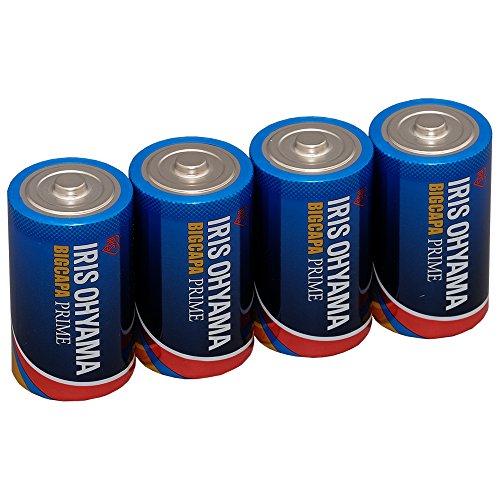アイリスオーヤマ 乾電池 単1 アルカリ 4本パック 長寿命・大容量タイプ BIG CAPA PRIME LR20BP/4P