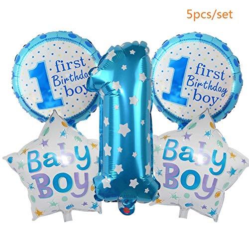 WZRQQ Bébé Douche Décoration Imprimer Aluminium Feuille Balloon Guirlande Bannière Pour La Fête D'Geburtversaire De Baptême Décoration