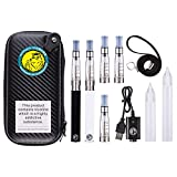 <span class='highlight'>WOLFTEETH</span> Upgraded 2 Pack E Cigarette Starter Kit 5 CE4 Atomizer 1.6ml Refillable | Rechargeable 1100mAh | Large Dripper Bottle | Electronic Cigarettes Vaporiser <span class='highlight'>Travel</span> <span class='highlight'>Case</span> | Nicotine Free 122401