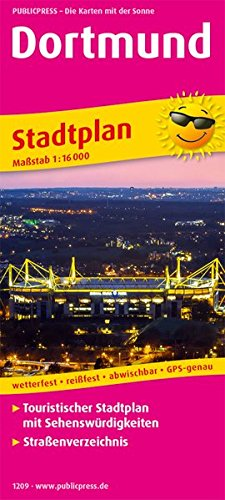 Dortmund: Touristischer Stadtplan mit Sehenswürdigkeiten und Straßenverzeichnis. 1:16000 (Stadtplan: SP)