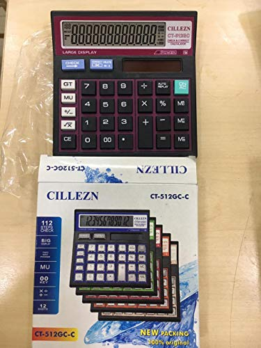 MEDIA MALL Electronic with Large Display Dual Power Calculator