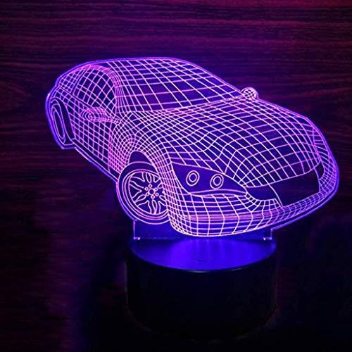 Veilleuse LED, Lampe De Table Pour Enfants Adultes 3D Visual Slide, Cadeau D'anniversaire De Noël De Décoration De Bureau (Edition : Seven color touches)