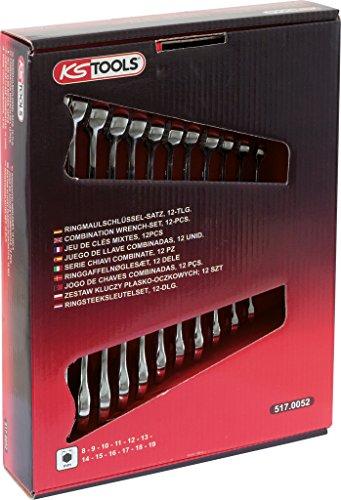 KS Tools 517.0052 CLASSIC Ringmaulschlüssel-Satz, abgewinkelt, 12-tlg. 8-19mm
