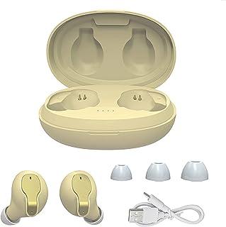 Bluetooth headset med smart touch, öra trådlösa öronproppar med mikrofon, HiFi HD ljudkvalitet IPX5 vattentät,Yellow