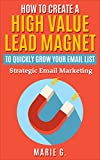 How To Create A High Value Lead Magnet To Quickly Grow Your Email List: Strategic Email Marketing (English Edition)