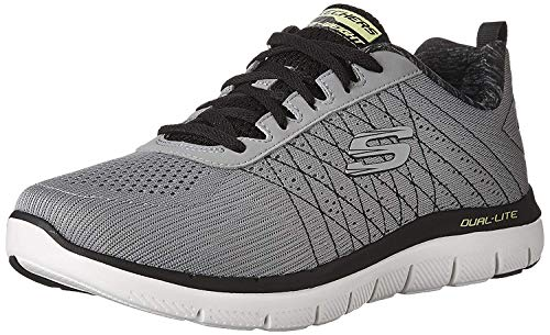 Skechers Flex Advantage 2.0, Men Outdoor Multisport Shoes, Grey (Light Grey/Black), 42 EU (8 UK)