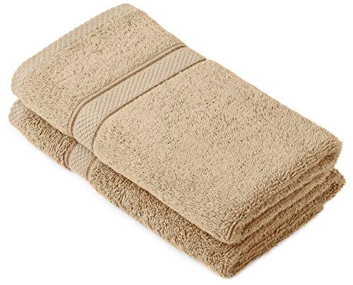 Pinzon by Amazon Handtuchset aus Baumwolle, Treibholzbraun, 2 Handtücher, 600g/m²