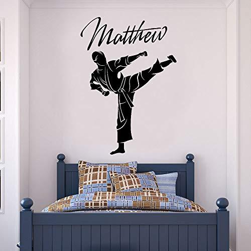 57x82cm, Bad Aufkleber, Taekwondo Martial Arts Vinyls Junge Teen Applique Sticker Tapete Schlafzimmer Zimmer Wandbild Kind Aufkleber Poster Dekoratives Kunstwerk